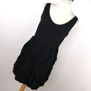 Beckerman 2 Black Dress Ruffle Skirt Sleeveless